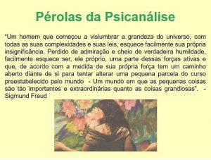 PÉROLAS DA PSICANÁLISE